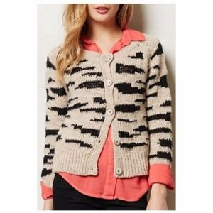 Anthropologie Sleeping On Snow Leopard Cardigan